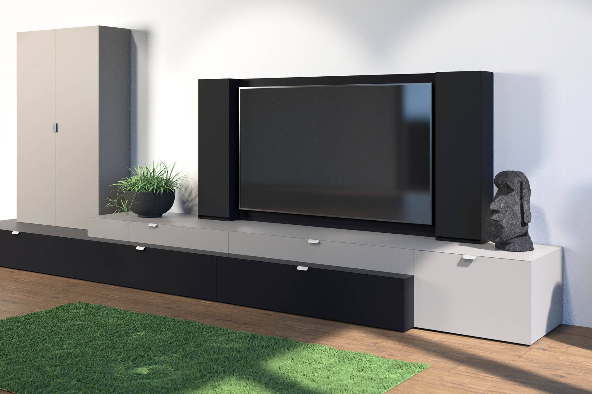 fernseher in der wand versenken fernseher an wand montieren die eleganteste variante heimkino. Black Bedroom Furniture Sets. Home Design Ideas